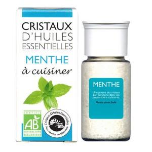 Menthe - Cristaux d'huiles essentielles à cuisiner - Bio - Flacon 10g