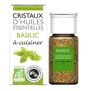 Basilic - Cristaux d'huiles essentielles à cuisiner - Bio - Flacon 10g