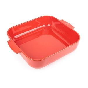 Plat four carré céramique rouge 36 cm Peugeot