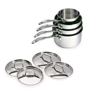 Lot de 4 casseroles et 4 couvercles Chef de 14 à 20 cm Beka