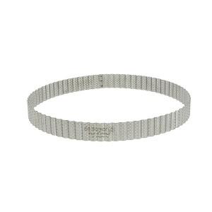 Cercle à tarte perforé cannelé acier inoxydable 28 cm De Buyer