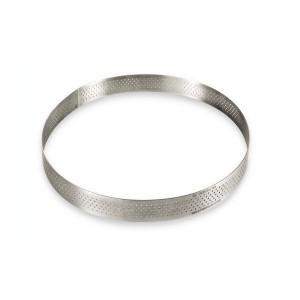 Cercle à tarte rond perforé 24 ,5 cm De Buyer