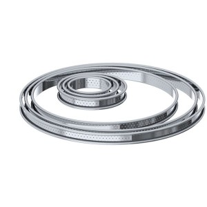 Cercle à tarte inox perforé 26 cm De Buyer