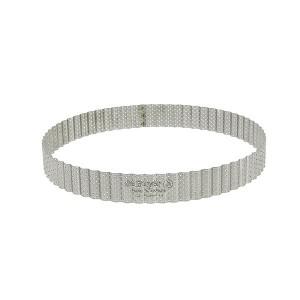 Cercle à tarte perforé cannelé acier inoxydable 24 cm De Buyer