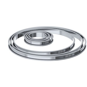 Cercle à tarte inox perforé 28 cm De Buyer