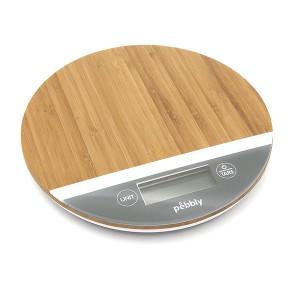 Balance de cuisine électronique tactile en bambou 18,5 cm Pebbly