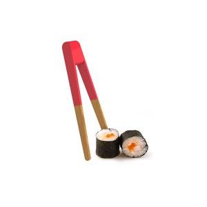 Pince à sushi ou toast rouge Pebbly