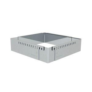 Cadre entremets carré adaptable inox 16 cm De Buyer
