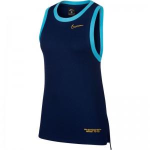 Débardeur Nike Dri-FIT basketball Bleu pour Femme