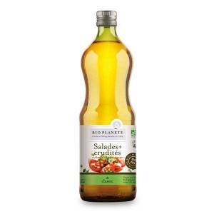 Huile pour salades et crudités Bio (colza tournesol olive) - Bouteille 1L