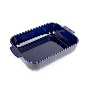 Plat four rectangulaire bleu céramique 32 cm Peugeot