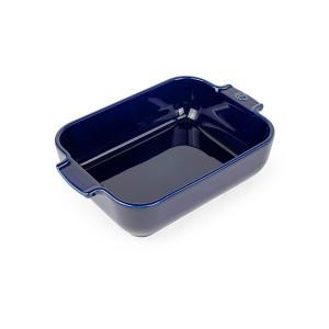 Plat four rectangulaire bleu céramique 25 cm Peugeot