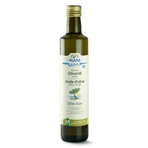 Huile d'olive de Grèce bio variété koroneiki - Mani Blauel - Bouteille 50cl
