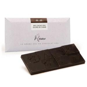 Tablette de chocolat cru aux éclats de fève bio - Tablette 45g