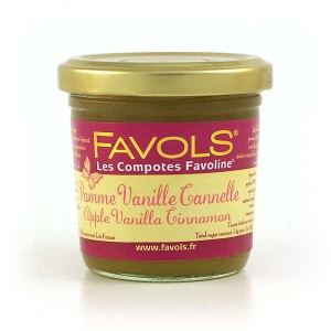 Compote pomme vanille cannelle Favoline - Pot 120g