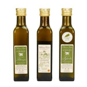 Coffret bois découverte 3 huiles Château Virant - Coffret bois - 3x25cl