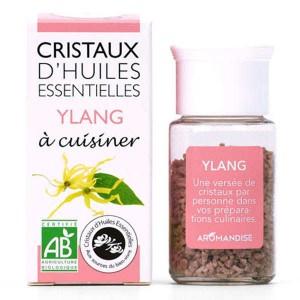 Ylang Ylang - Cristaux d'huiles essentielles à cuisiner - Bio - Flacon 10g
