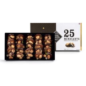 Les mendiants chocolats lait et noir de Michel Cluizel - 25 mendiants - 260g