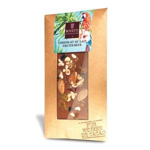 Tablette chocolat au lait fruits secs - Tablette 100g
