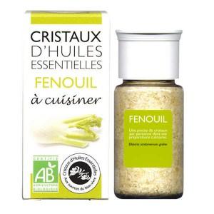 Fenouil - Cristaux d'huiles essentielles à cuisiner - Bio - Flacon 10g