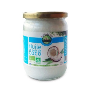 Huile de noix de coco bio - Bocal 500ml