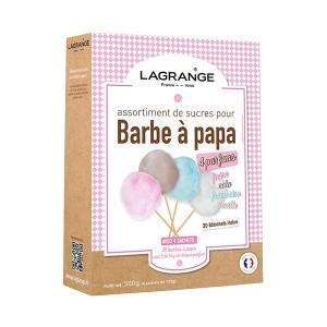 Assortiment sucres à barbe à papa 4 arômes 500 g Lagrange