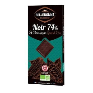 Tablette de chocolat noir bio 74% St Domingue Grand Cru - Une tablette 100g