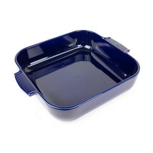 Plat four carré céramique bleu 36 cm Peugeot