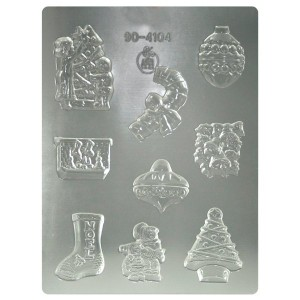 Moule thermoformé pour chocolats Décorations de Noël Silikomart