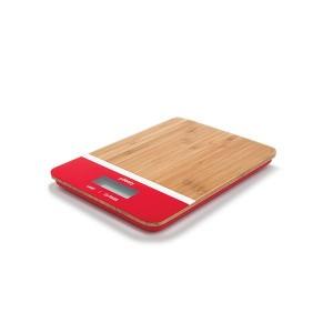 Balance de cuisine bambou rouge rectangulaire Pebbly