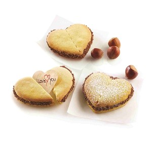 Kit de biscuits à message forme coeur Silikomart