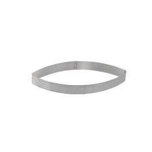 Cercle perforé à tarte et calisson Valrhona 20 cl 18 cm inox De Buyer