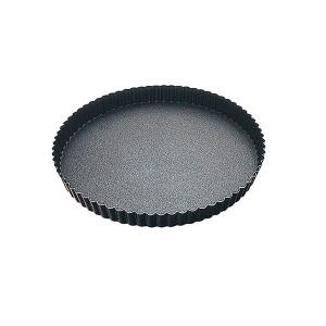 Tourtière ronde bords cannelés avec revêtement antiadhésif 32 cm Gobel