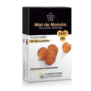 Billes fourrées 30% miel de manuka IAA 10+ - Boîte 54g