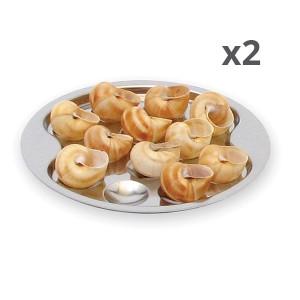 Lot de 2 assiettes 12 escargots Roger Orfèvre