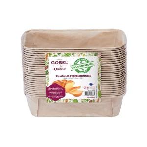 Pack de 25 moules cake médium Gobel