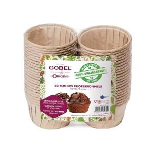 Pack de 50 moules muffin Gobel