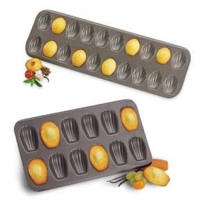 Lot 2 plaques à madeleines et mini-madeleines Mathon