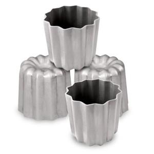 Lot 4 Moules Cannelés en aluminium revêtu