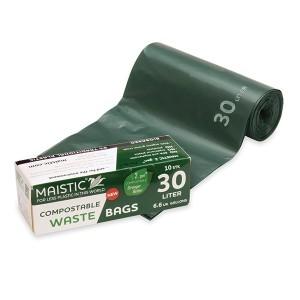 10 sacs poubelles compostables 30L