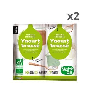 Lot de deux préparations en poudre pour yaourt brassé