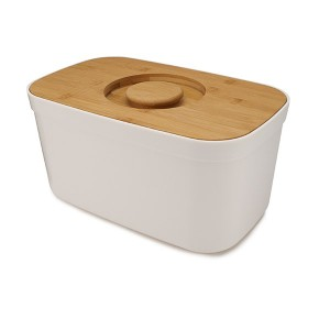 Boîte à pain blanc couvercle bambou 35,5 cm Joseph Joseph