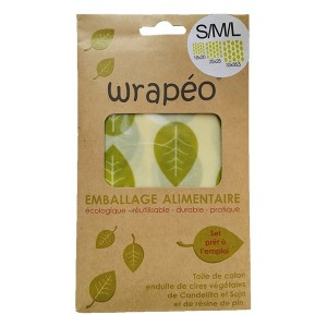 Set 3 Wrapéo à la cire végétale - taille S M L Wrapéo