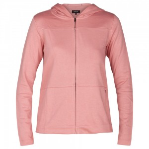 Sweat Hurley One & Only Fleece Zip Rust Pink