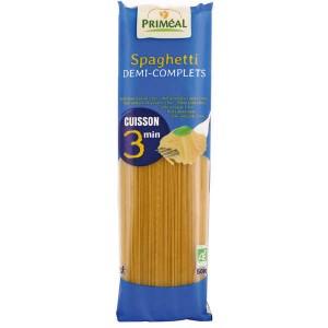 Spaghetti bio demi-complets cuisson rapide 3 minutes - Sachet 500g