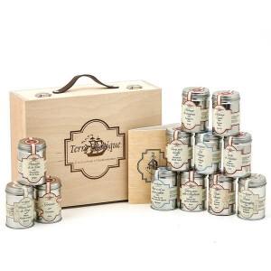 Valise Weekend - 12 classiques de sel, poivre et épices - La valise et ses 12 boites