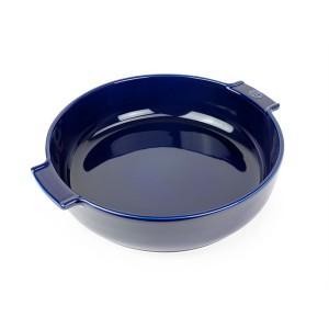 Plat four rond céramique bleu 34 cm Peugeot