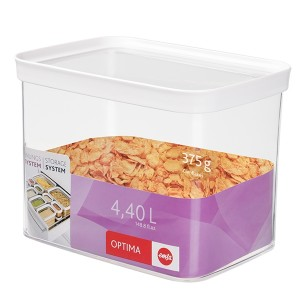 Boîte de conservation rectangulaire Optima 4,4 L Emsa