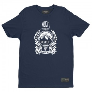 "Blue t-shirt ""Respect this house"""