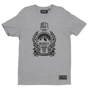 "Grey t-shirt ""Respect this house"""
